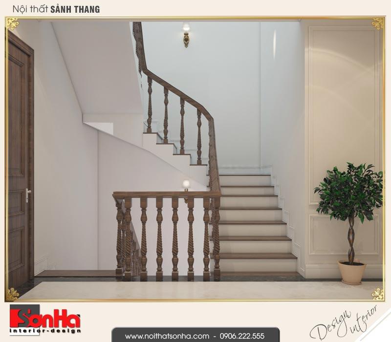 8 Thiết kế nội thất sảnh thang nhà ống cổ điển pháp tại hà nội sh nop 0169