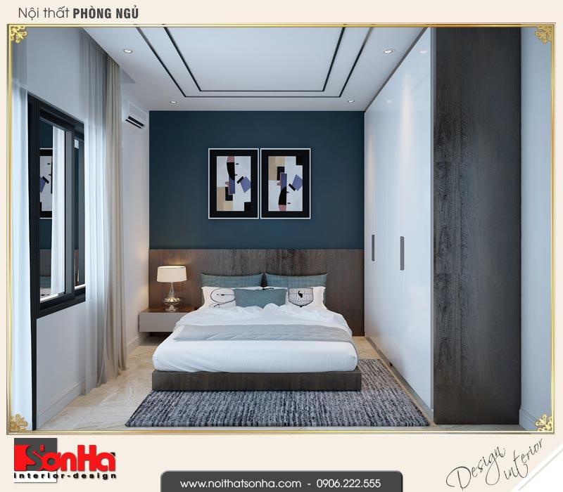 9 Thiết kế nội thất phòng ngủ dự phòng nhà ống hiện đại mặt tiền 4,9m tại hải phòng sh nod 0187