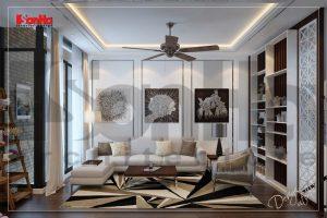BÌA thiết kế nội thất nhà ống hiện đại 4 tầng mặt tiền 4,9m tại hải phòng sh nod 0187