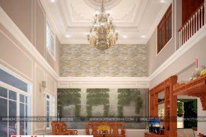 1 Mẫu nội thất phòng khách nhà ống tân cổ điển 3 tầng đẹp tại sài gòn sh nop 0174