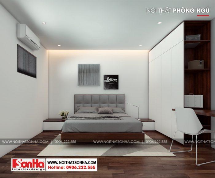 Phương án thiết kế cải tạo nội thất phòng ngủ hiện đại của căn hộ mini