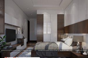 10 Thiết kế nội thất phòng ngủ 5 nhà ống tân cổ điển diện tích 131m2 tại sài gòn sh nop 0174
