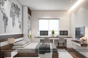 13 Thiết kế nội thất phòng ngủ 4 hiện đại đẹp tại hải phòng