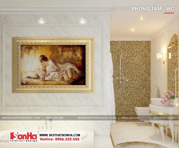 14 Mẫu nội thất wc phòng ngủ con gái biệt thự phong cách tân cổ điển tại sài gòn sh btp 031