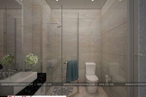 15 Mẫu nội thất phòng tắm wc nhà ống tân cổ điển 3 tầng đẹp tại sài gòn sh nop 0174