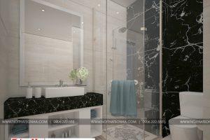 16 Thiết kế nội thất phòng tắm wc nhà ống tân cổ điển đẹp tại sài gòn sh nop 0174