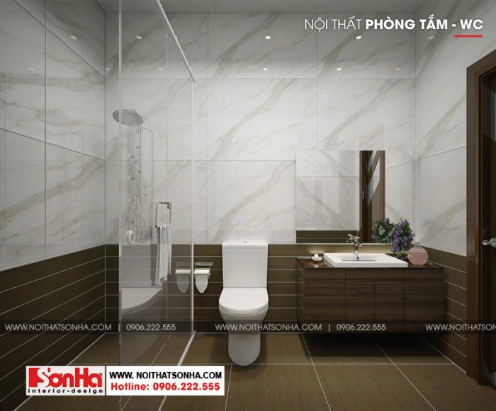 Thiết kế phòng tắm và vệ sinh khép kín trong phòng ngủ phong cách hiện đại