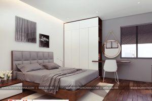 2 Mẫu nội thất phòng ngủ hiện đại 1 căn hộ cho thuê tại hải phòng
