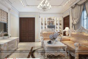 2 Thiết kế nội thất phòng khách biệt thự tân cổ điển tại hải phòng