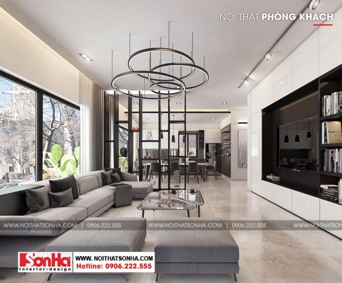 2 Thiết kế nội thất phòng khách hiện đại biệt thự đơn lập khu đô thị waterfront hải phòng sh wfc 004