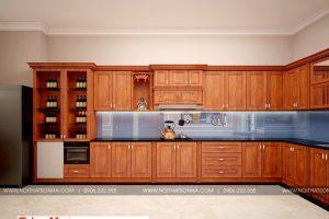 3 Mẫu nội thất phòng bếp nhà ống tân cổ điển diện tích 131m2 tại sài gòn sh nop 0174