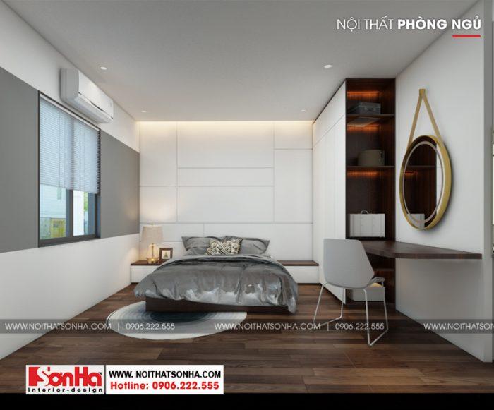3 Thiết kế nội thất phòng ngủ hiện đại 2 căn hộ cho thuê tại hải phòng