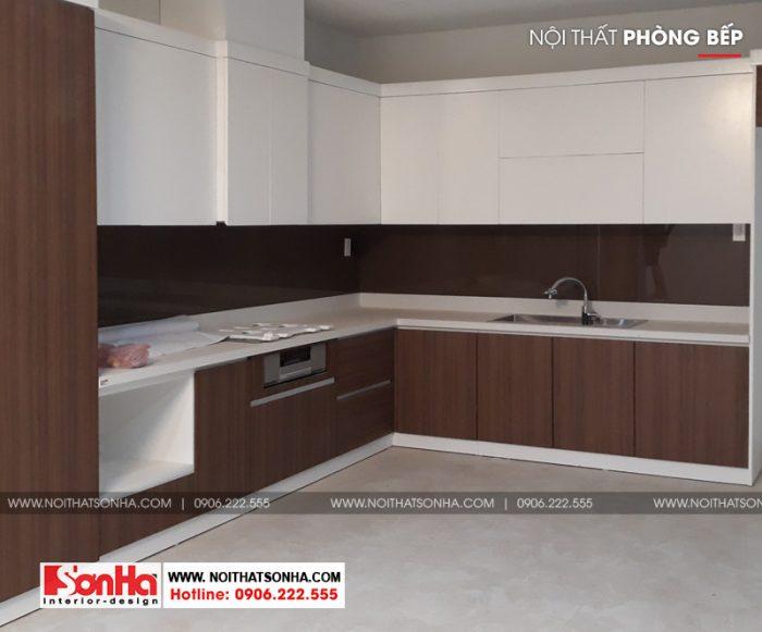 3 Thiết kế thi công nội thất tủ bếp nhà ống hiện đại tại hải phòng