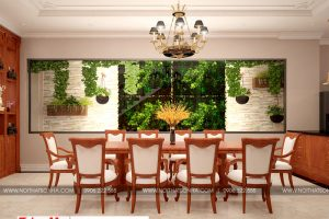 4 Thiết kế nội thất phòng ăn diện tích mặt tiền 6,7m tại sài gòn sh nop 0174