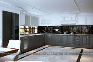 4 Thiết kế nội thất phòng bếp ăn biệt thự tân cổ điển 3 tầng tại hải phòng