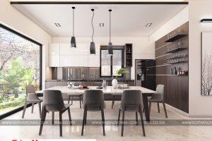 4 Thiết kế nội thất phòng bếp ăn hiện đại biệt thự đơn lập khu đô thị waterfront hải phòng sh wfc 004