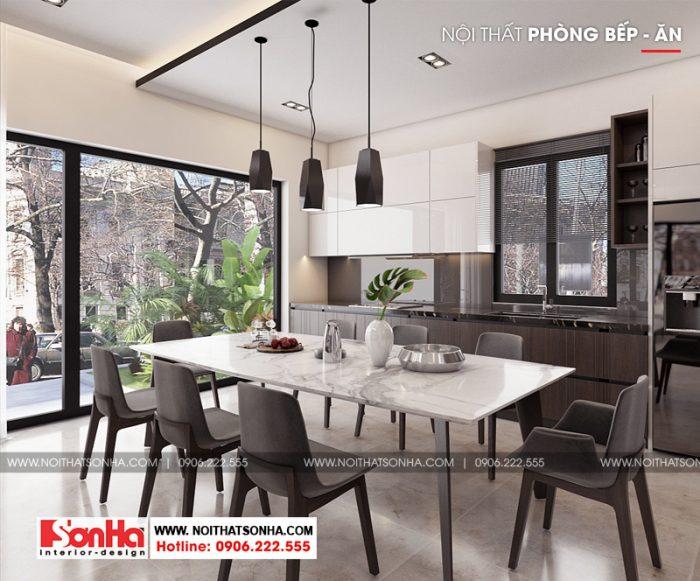 5 Mẫu nội thất phòng bếp ăn hiện đại biệt thự đơn lập khu đô thị waterfront hải phòng sh wfc 004