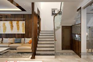 6 Mẫu nội thất sảnh thang hiện đại 3 tầng tại hải phòng