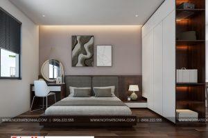 6 Mẫu thiết kế nội thất phòng ngủ hiện đại 3 căn hộ cho thuê tại hải phòng