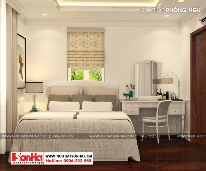 mẫu phòng ngủ đẹp dù bố trí đơn giản sàn gỗ công nghiệp và đồ nội thất giản dị