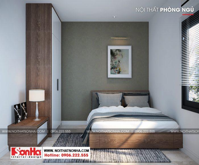 Mẫu phòng ngủ đẹp phong cách hiện đại nhỏ xinh thiết kế tinh tế