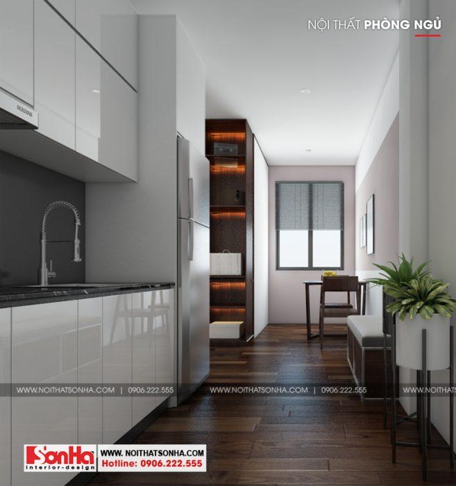 8 Mẫu nội thất khu bếp ăn phòng ngủ hiện đại 3 căn hộ cho thuê tại hải phòng