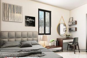 8 Thiết kế nội thất phòng ngủ 1 hiện đại biệt thự đơn lập khu đô thị waterfront hải phòng sh wfc 004