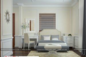 8 Thiết kế nội thất phòng ngủ 3 biệt thự tân cổ điển 3 tầng tại hải phòng