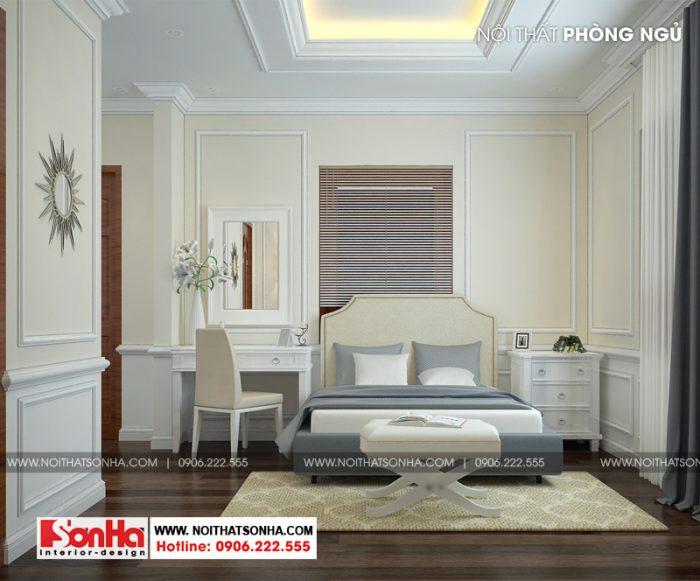 Sàn gỗ và nội thất gỗ công nghiệp hiện hữu trong các không gian phòng ngủ