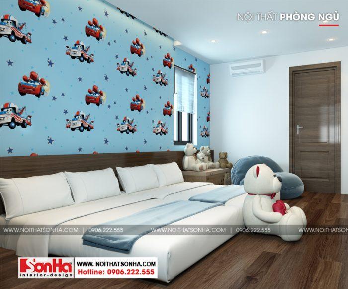 8 Thiết kế nội thất phòng ngủ 3 nhà ống tân cổ điển diện tích 131m2 tại sài gòn sh nop 0174