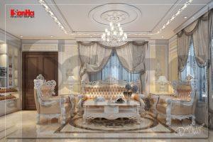 BÌA thiết kế nội thất biệt thự tân cổ điển đẹp 3 tầng tại hải phòng