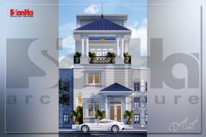 BÌA thiết kế nội thất nhà ống tân cổ điển 3 tầng tại sài gòn sh btp 0131