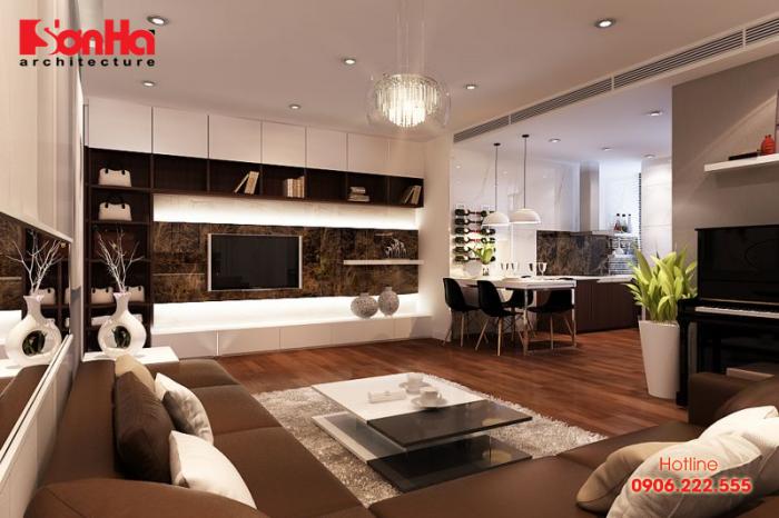 Các KTS luôn phải tạo kết nối giữa các không gian khách bếp bằng vật liệu khả thi