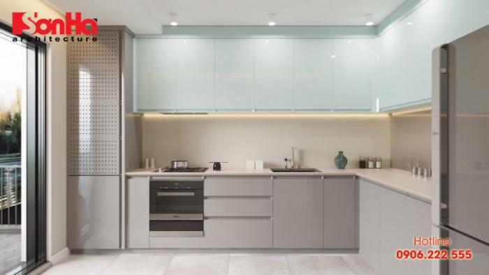 Cách bố trí phòng bếp hiện đại diện tích nhỏ cho biệt thự nhà phố