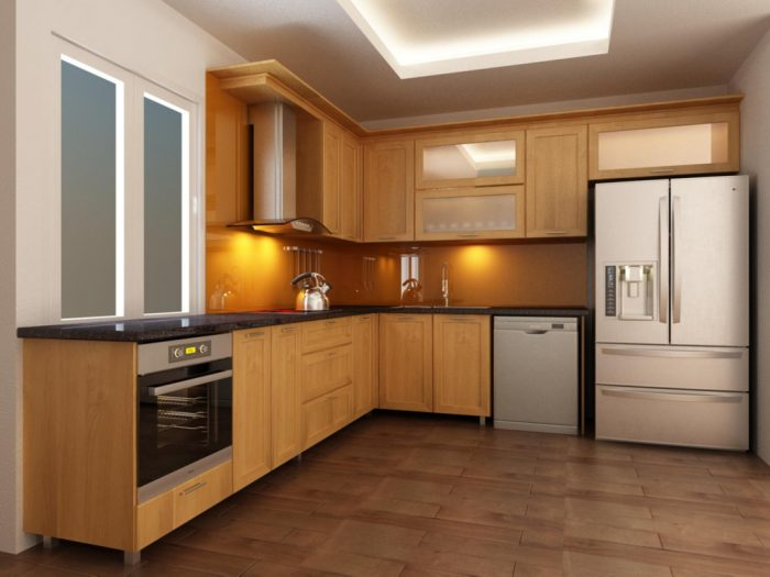 Cách sắp xếp tủ bếp chữ L khoa học tạo sự tiện nghi cho hoạt động bếp núc