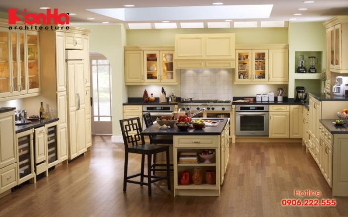 Cách trang trí phòng bếp cho người mệnh Thủy được xem xét đầy đủ các yếu tố