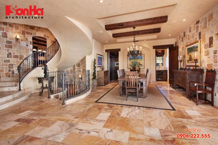 Cách trang trí phòng khách đẹp phong cách Ý cổ điển và nghệ thuật (Tuscan Style)