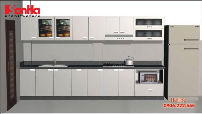 Chất liệu tủ bếp bền bỉ theo năm tháng thì inox là chất liệu bạn cần