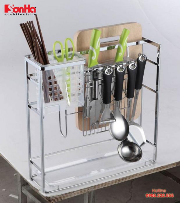 Giá đa năng để đồ dùng và gia vị dao thớt cho không gian bếp đẹp