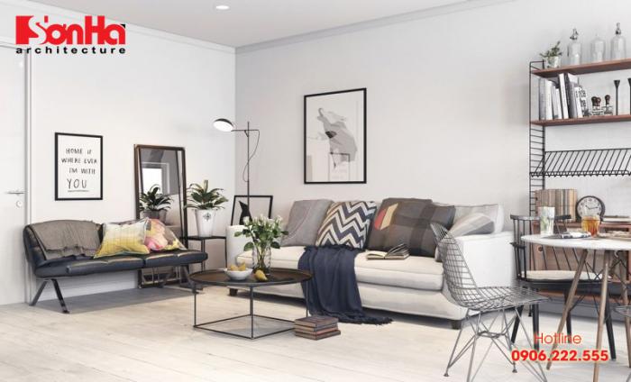 Không gian phòng khách đẹp chuẩn phong cách scandinavian mang nét cuốn hút tinh tế