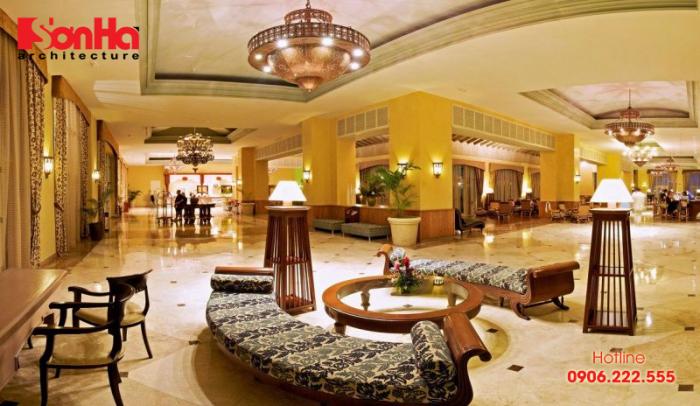Khu vực này bao gồm các chức năng quan trọng để điều tiết giao thông trong khách sạn