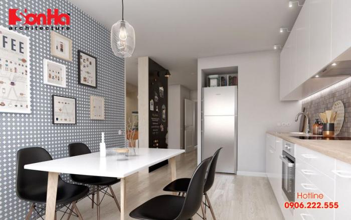 Lựa chọn màu sắc để trang trí không gian nhà bếp đẹp cũng là bí quyết