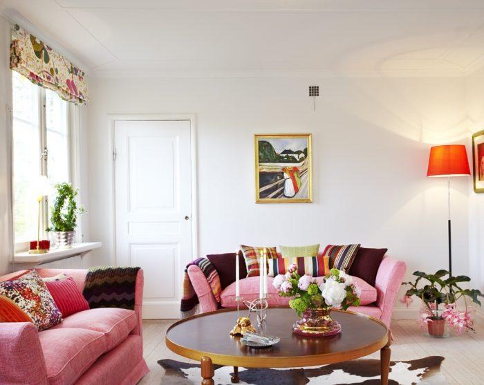 Mẫu phòng khách đẹp phong cách hiện đại trang trí gam màu phong thủy mệnh Hỏa