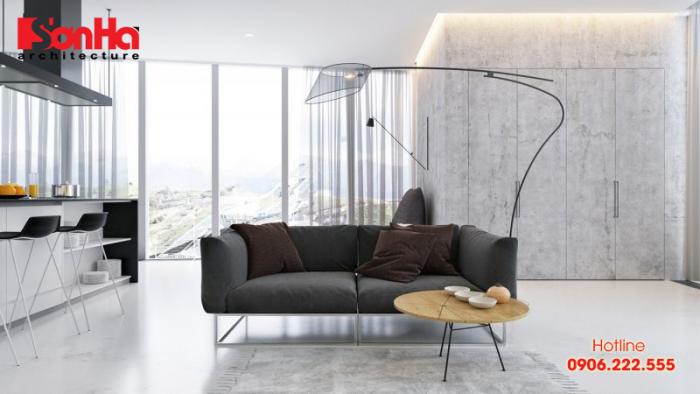 Mẫu phòng khách phong cách tối giản (Minimalist Style) rất được ưa chuộng