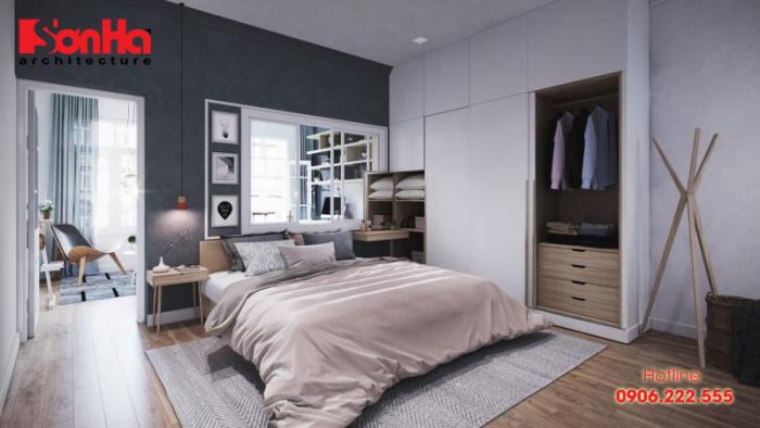 Mẫu phòng ngủ đẹp được thiết kế tinh tế theo phong cách Bắc Âu