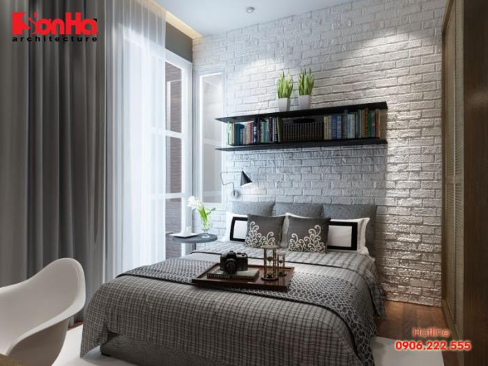 Mẫu phòng ngủ đẹp phong cách đương đai thể hiện sự linh hoạt trong sắp xếp bố cục