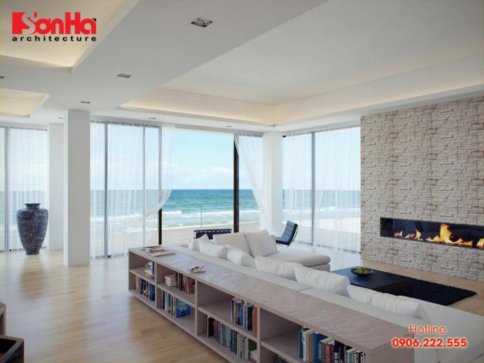 Mẫu thiết kế phòng khách đẹp phong cách Ven biển (Coastal Style)