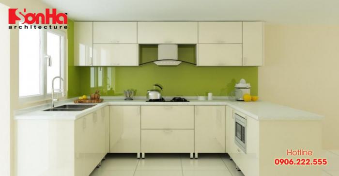 Mẫu tủ bếp đẹp cho không gian phòng bếp đẹp dù trang trí giản dị và tối giản