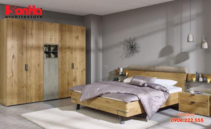 Phòng ngủ đẹp bắt kịp xu hướng của năm với việc sử dụng chất liệu gỗ