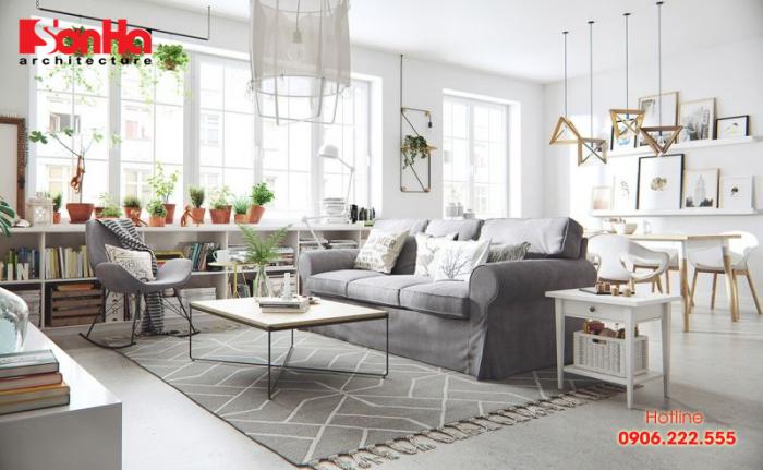 Phương án thiết kế nội thất căn hộ phong cách Bắc Âu sáng bừng tươi trẻ